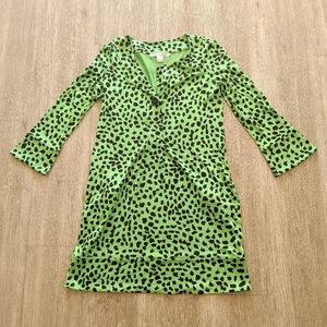 Diane Von Furstenberg Lime/Black Mini Dress Size 0